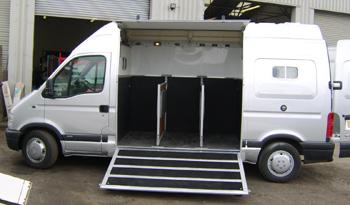 Silver Movano Horsebox Exterior